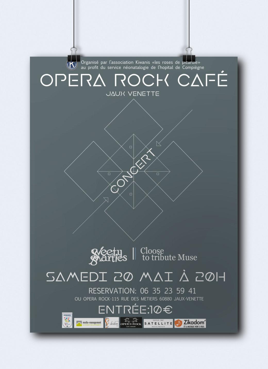 Affiche concert Opéra Rock