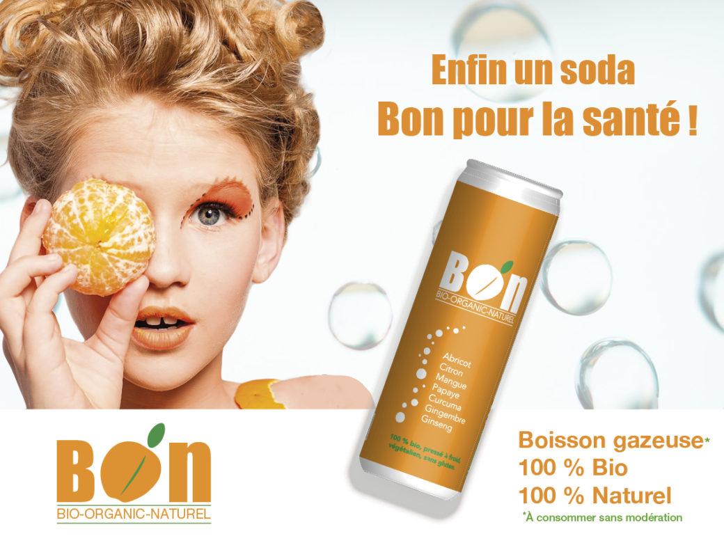 Affiche soda Bio orange