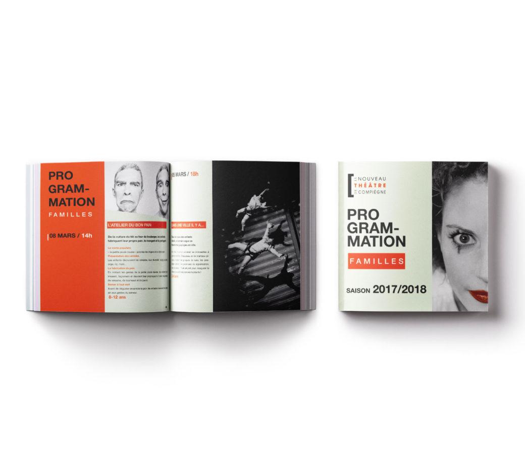 Brochure programmation saison du nouveau théâtre de Compiègne