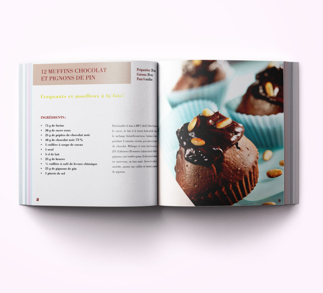 Livre de recettes au chocolat