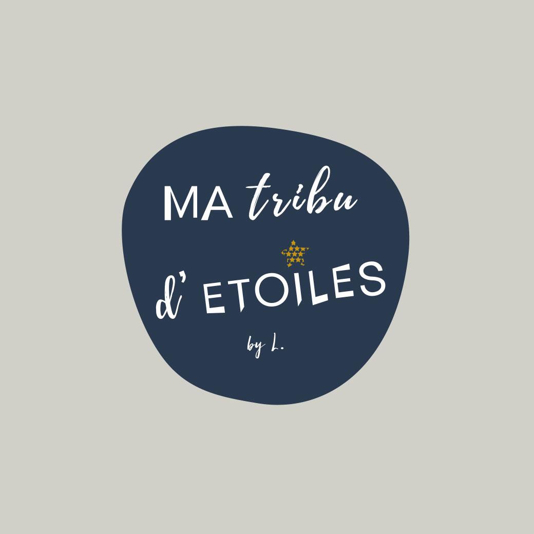 Logotype pour la marque Ma tribu d'étoiles, bijoux personnalisables