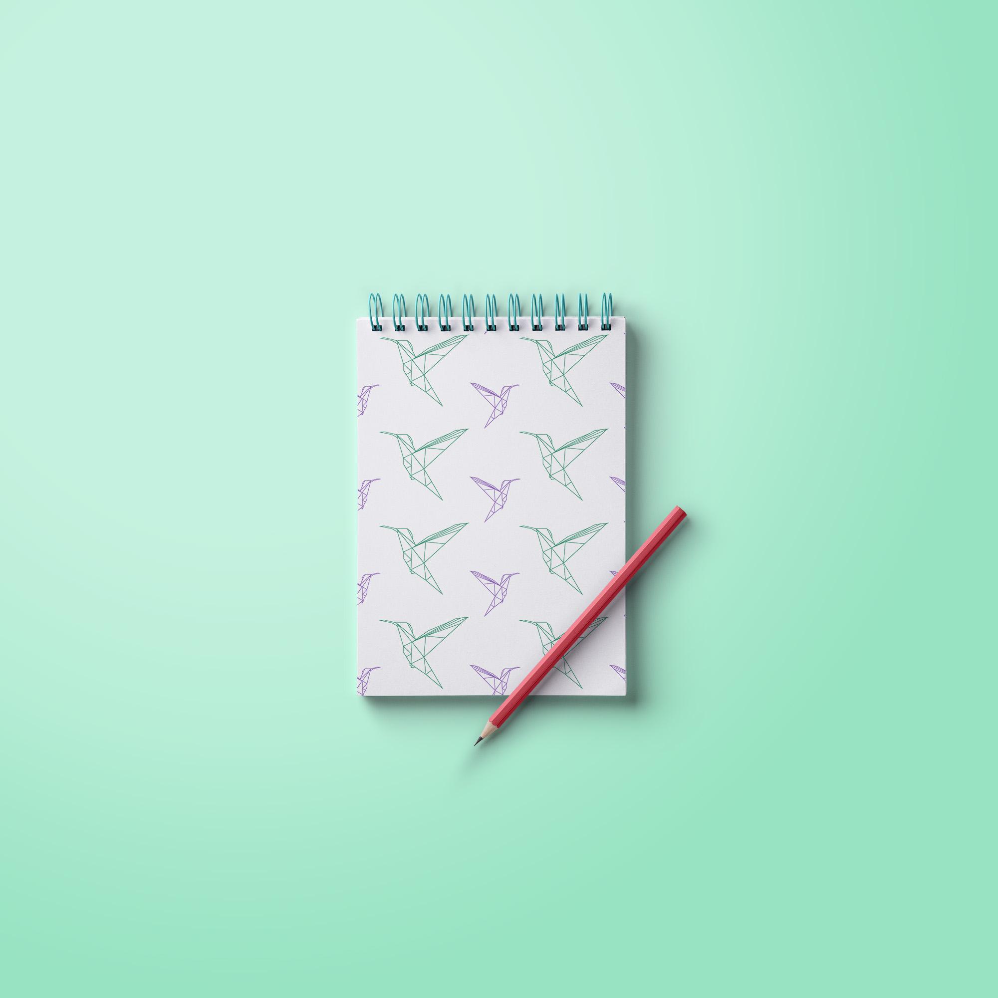carnet-papeterie-colibri-graphiste-oise
