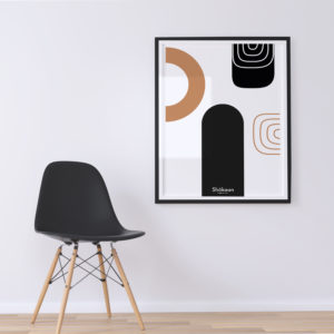 affiche-decorative-abstract-intersection-shokoon-lafficheuse