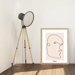 affiche-decorative-abstract-man-portrait-shokoon-lafficheuse
