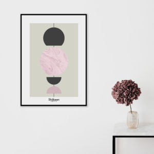 affiche-decorative-abstract-pink-marble-shokoon-lafficheuse