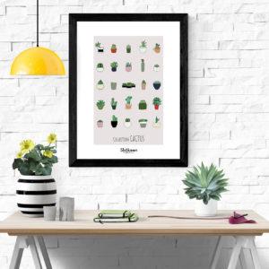 affiche-decorative-collection-cactus-shokoon-lafficheuse