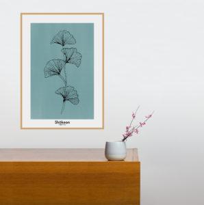 affiche-decorative-ginko-shokoon-lafficheuse