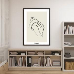 affiche-decorative-seashell-shokoon-lafficheuse