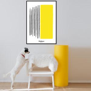 affiche-decorative-shokoon-lafficheuse-to-place-yellow-contemporain