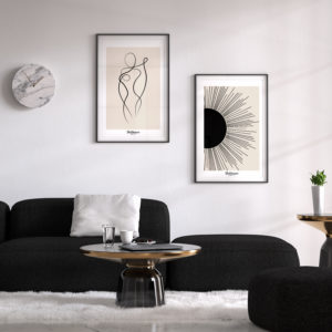 affiches-decorative- lover-line-art-&-Black-sunshine-shokoon-lafficheuse