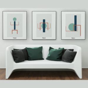 affiches-decoratives-contemporaines-triptyque-totem-shokoon-lafficheuse