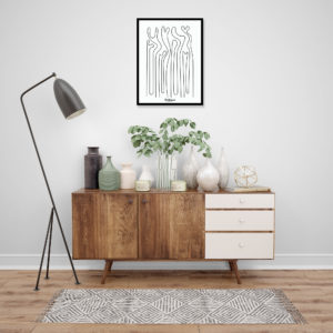 affiche-decorative-abstract-forest-shokoon-lafficheuse
